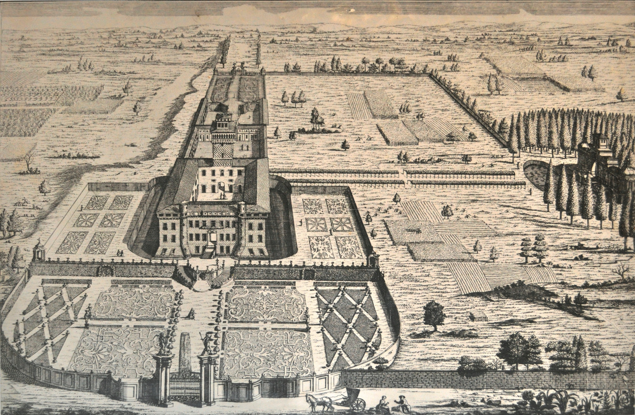 mappa originale dall alto del castello di chignolo po pavia lombardia