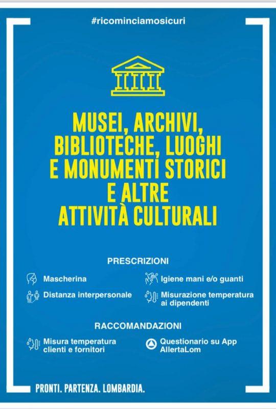 disposizione covid per musei e monumenti storici
